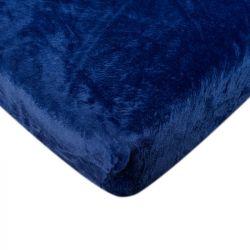 Mikroflanelové prostěradlo - modré 180x200 cm