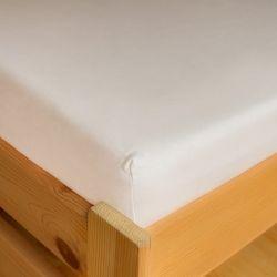 Napínací JERSEY prostěradlo - bílé 90x200 cm