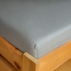 Napínací JERSEY prostěradlo - světle šedé 180x200 cm