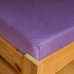 Napínací JERSEY prostěradlo - fialové 180x200 cm