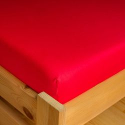 Napínací JERSEY prostěradlo - červené 90x200 cm