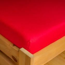 Napínací JERSEY prostěradlo - červené 180x200 cm