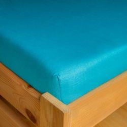 Napínací JERSEY prostěradlo - modré 90x200 cm