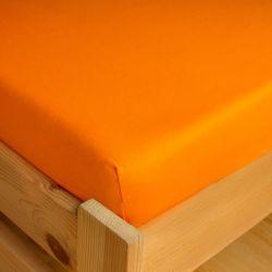 Napínací JERSEY prostěradlo - oranžové 180x200 cm