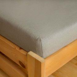 Froté prostěradlo - světle šedé 90x200 cm
