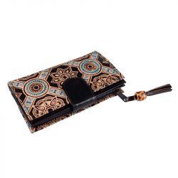 Kožená peněženka - černá vzorovaná