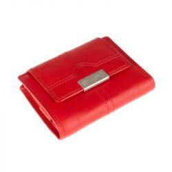 Kožená peněženka, střední - červená Roberto 2