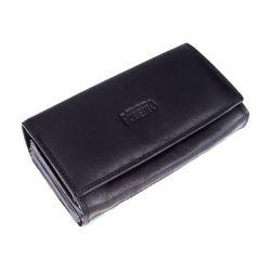 Kožená peněženka, kasírka - černá