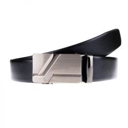 Pánský kožený opasek - černý s elegantní sponou