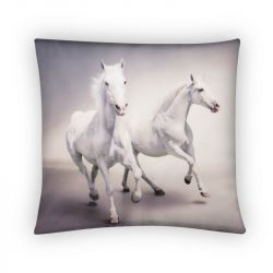 Koně běloušové - povlak na polštář