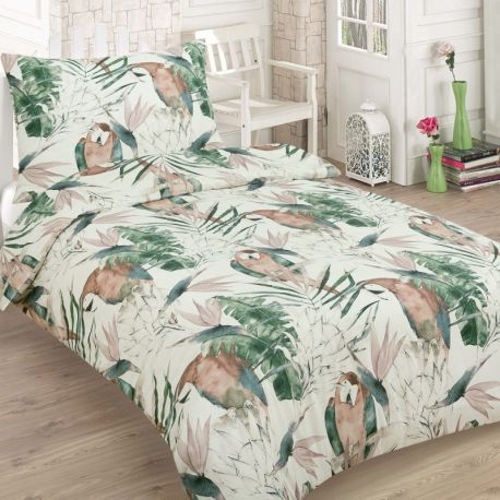 Bavlněné povlečení - Tropický papoušek