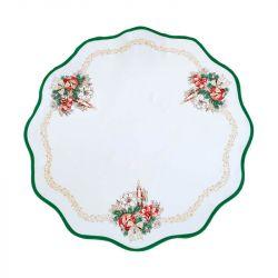 Vánoční ubrus - kolo zelená 86 cm