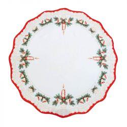 Vánoční ubrus - kolo červená 86 cm