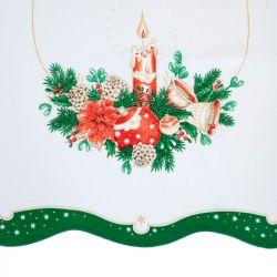 Vánoční ubrus - zelená obdelník 50x100 cm