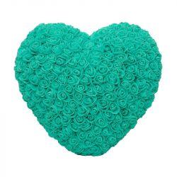 Srdce z umělých růží velké - zelené