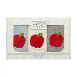 Set 3 kuchyňských ručníků - Paprika