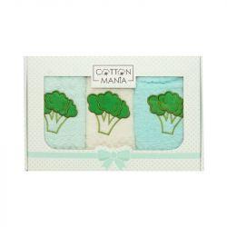 Set 3 kuchyňských ručníků - Brokolice