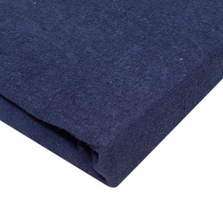 Napínací froté prostěradlo - námořnická modrá 90x200 cm