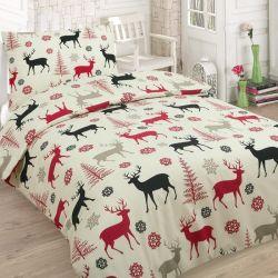 Bavlněné 4dílné povlečení - Vánoční jeleni