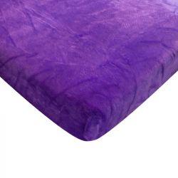 Mikroflanelové prostěradlo - fialové 90x200 cm