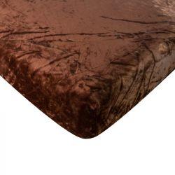 Mikroflanelové prostěradlo - hnědé  90x200 cm