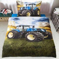 3D povlečení APEX - Modrý traktor