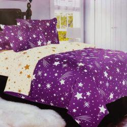 7dílné povlečení  - Hvězdy a křivky - fialová