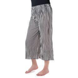 Kalhoty culottes - Pruhované černá a bílá