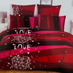 7dílné povlečení - Love - červené