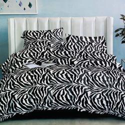 Mikroflanelové povlečení 3dílné - Zebra