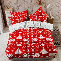 Oboustranné bavlněné povlečení - Vánoční mix + dárek malý polštář 40x50 cm