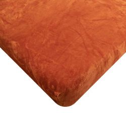 Mikroflanelové prostěradlo - oranžovohnědé 180x200x25 cm