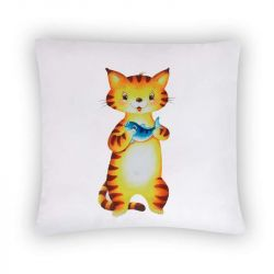 Povlak na polštářek s obrázkem kočičky
