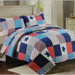Přehoz na postel - hvězdy patchwork
