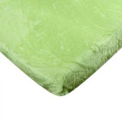 Mikroflanelové prostěradlo - zelené 90x200 cm